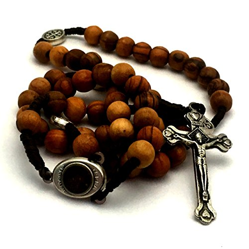 Olive Wood Rosary - Bethlehem Holy Soil, Christian Gift from Jerusalem (Wood Rosary Beads compare prices)