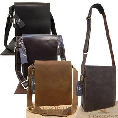 Grand sac Besace en cuir signé Visconti (18410)