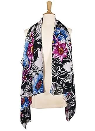 Amazon.com: Floral Chiffon Vest: Clothing