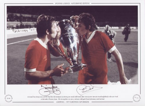 Jimmy Case & Phil Neal Liverpool 1977 European Cup – Signed Limited Edition