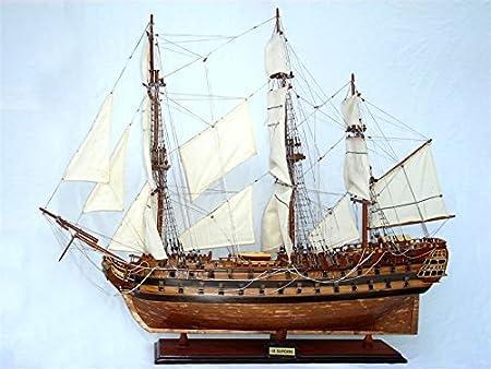 MAQUETTE DE BATEAU EN BOIS LE SUPERBE /1784/ 60cm
