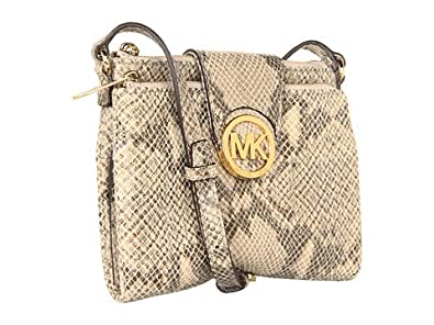 Michael Kors Fulton Large Leather Crossbody in Angora