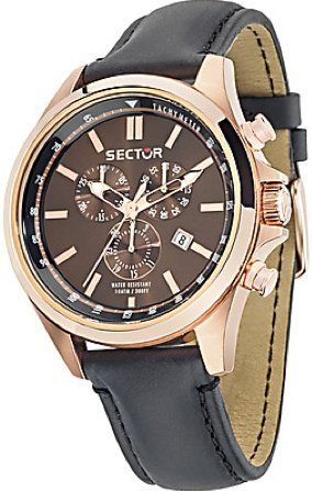 Sector No Limits 180 Chr Brown Dial Strap 180 - Orologio da Polso Uomo