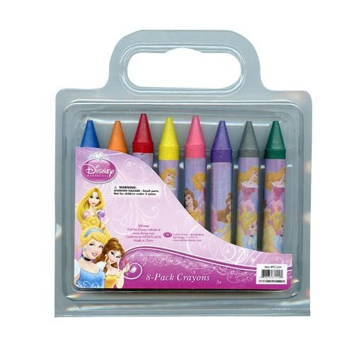Disney Princess 8 Pack of Jumbo Crayons for Art School & More