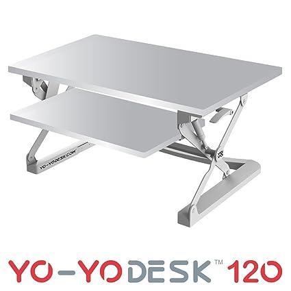 Yo-Yo scrivania 120- altezza regolabile in piedi scrivania White