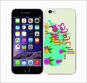 Galaxy Printed 2953 TrendyMaps USA Hard Cover for Apple Iphone 6 Plus