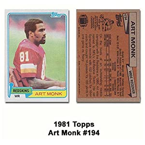 Topps Washington Redskins Art Monk 1981 Rookie Card by Topps