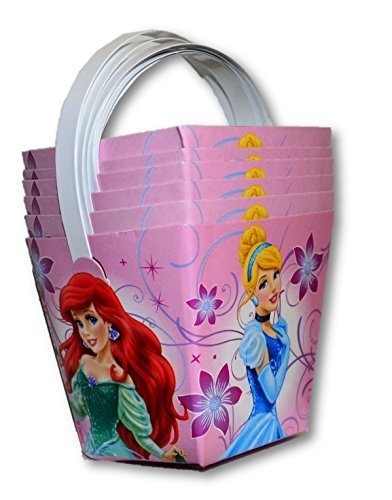 Disney Princess Dispoable Mini Snack/Party Pails 6 Count (Pack of 4 Sets)