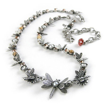 Adjustable Dragonfly Necklace
