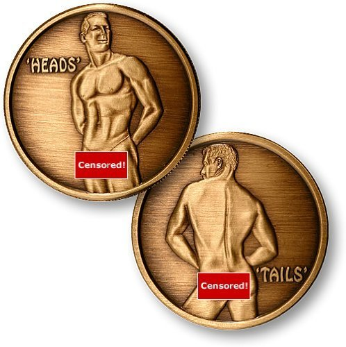 Heads or Tails - Male, Brass Antique Finish (Heads And Tails Coin compare prices)
