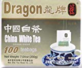 Dragon Brand &#8211; 100% Natural China White Tea &#8211; 100 Individually Wrapped Tea Bags &#8211; 7.04 Oz Reviews