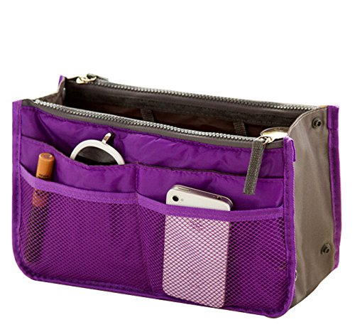 ecokaki tm women travel portable insert handbag pouch. Black Bedroom Furniture Sets. Home Design Ideas