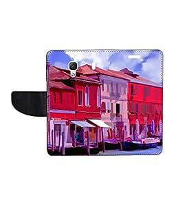 KolorEdge Printed Flip Cover For Redmi 1S - Multicolor(50KeMLogo8088Redmi1S)