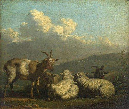 Oil Painting 'Karel Dujardin Sheep And Goats', 12 x 14 inch / 30 x 36 cm , on High Definition HD canvas prints is for Gifts And Foyer, Home Theater And Laundry Room Decoration, wallart (Oasis Bunch Cutter compare prices)