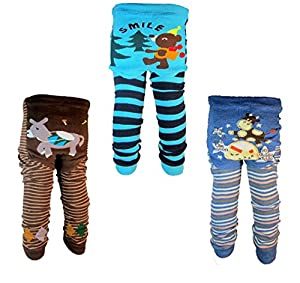 [Backbuy] 3 Pants 0-24 Months Baby Boys Toddler Leggings trousers Knitted pants C5C6D3 (18-24 Months) by Backbuy