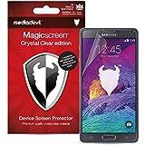 MediaDevil Samsung Galaxy Note 4 Screen Protector: Magicscreen Crystal Clear (Invisible) Edition - (2 x Protectors)