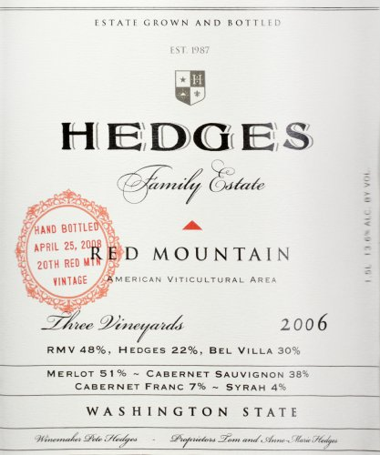 2006 Hedges Family Estate Red Mountain Red Blend Limited Edition Large Format 1.5 L