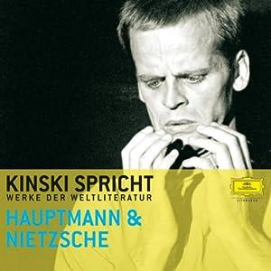 Kinski spricht Hauptmann und Nietzsche Hörbuch