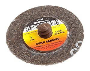 Forney 71745 Mini Sanding Disc Quick Change 80 Grit 2
