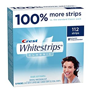 Crest Classic 100% More Pack Whitestrips, 112-Count