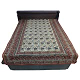 """60X90"""" Bagru Print Block Print Double Bed Spread- Double Bed Cover- Double Bed Sheet - Online Shopping For Home... - B00G8V8IL8"""