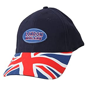 Union Jack London England Printed Baseball Cap With Rubber Badge