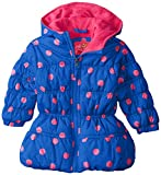 Pink Platinum Baby Girls' Dot Print Puffer, Royal Blue, 18 Months
