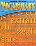 Great Source Vocabulary for Achievement: Teacher Edition Grade 7 First Course