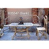 Bank, Steinbank, Steinguss 5547 Farbe antikfinish