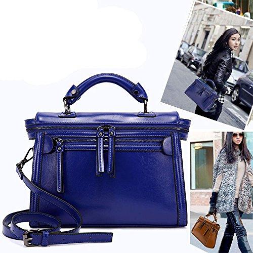 Lacaca Occident Trend Fashion-Borsetta a tracolla in pelle da donna, blu (Blu) - LA-LG-S55