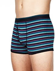3 Pack Cool & Fresh™ Stretch Cotton Multi-Striped Trunks with StayNEW™