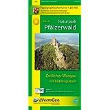 Naturpark Pfälzerwald /Östlicher Wasgau mit Bad Bergzabern (WR): Naturparkkarte 1:25000 mit Wander- und Radwanderwegen