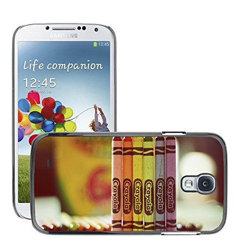 Premium Slim Polycarbonate Aluminium Cassa del telefono Custodia Case Bandiera Cover Armor // M00052189 crayola drawing colorful colour // Samsung S4 i9500