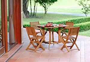 New One more option for shopping pc Sussex Outdoor Patio Wood Dining Set Furniture By Scan This website every helps search the product you want for you