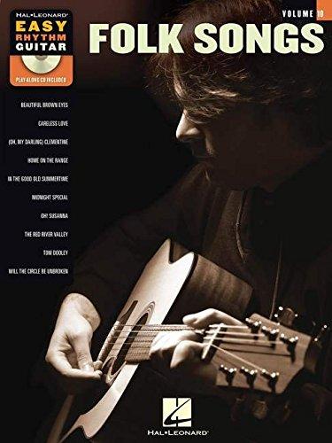 Easy Rhythm Guitar Vol.10 Folk Songs CD (Book & CD)