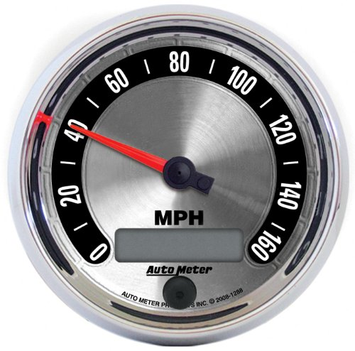 """Auto Meter 1288 American Muscle 3-3/8"""" 160 Mph Electric Programmable Speedometer Gauge"""
