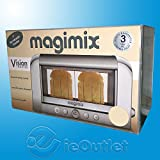 NEW MAGIMIX 2-SLICE 1500 WATT COLORED VISION COMMERCIAL GRADE TOASTER -CREAM -supplier-ieoutlet