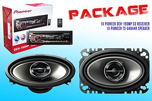 Package ! Pioneer Deh-150Mp Cd-Receiver + Pioneer Ts-G4644R Car Speakers