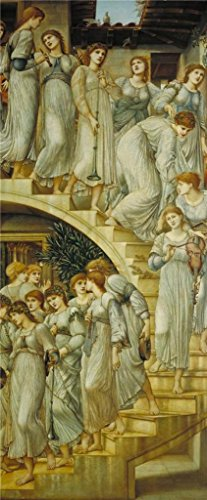 Perfect Effect Canvas ,the Amazing Art Decorative Prints On Canvas Of Oil Painting 'Sir Edward Coley Burne-Jones - The Golden Stairs,1880', 10x24 Inch / 25x61 Cm Is Best For Living Room Decoration And Home Artwork And Gifts (Liquid Envelope Sealer compare prices)