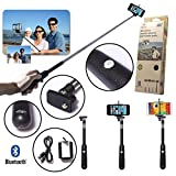HDTOP Selfie Wireless Remote Control Camera Shutter Release Self Timer for IOS Android Smartphone Tablet Iphone 5 5s 5c 4s 4, Ipad 5 4 3 Ipad Air Mini, Sony Xperia, HTC New One and X, Samsung Galaxy S3 S4 S5 Note 1 2 3 Galaxay Tab 2 Note8 10.1, Google Nexus 4 5 7