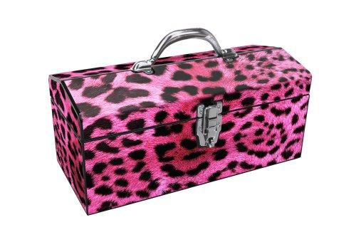 Sainty International 24-033 Art Deco Pink Leopard Tool Box