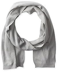 True Religion Men's Knit Cotton Scarf, Factory Grey, One Size