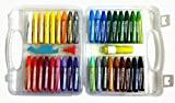 Set of 36 Non-Toxic Oil Pastel Crayon Sticks with Plastic Carry Case for Children