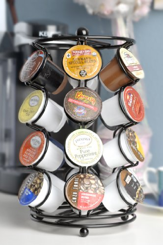 K-cup Coffee Pod Storage spinning Carousel Holder - 24 ct, Black (Keurig Cup Holders compare prices)