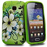 Accessory Master Silicone Case for Samsung Galaxy Ace 2 Fancy Jasmine Flower Design