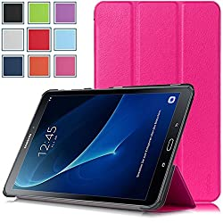Galaxy Tab A 10.1 Case - HOTCOOL Ultra Slim Lightweight Stand Cover Case For Samsung Galaxy Tab A 10.1 Tablet (With Auto Wake/Sleep Feature), Magenta