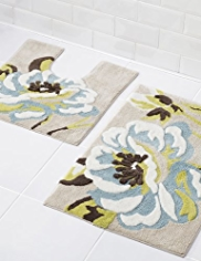 Natural Floral Bath & Pedestal Mats