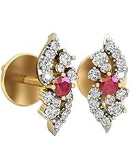 WearYourShine By PC Jeweller The Lizaveta 18 K Gold And Diamond Stud Earrings