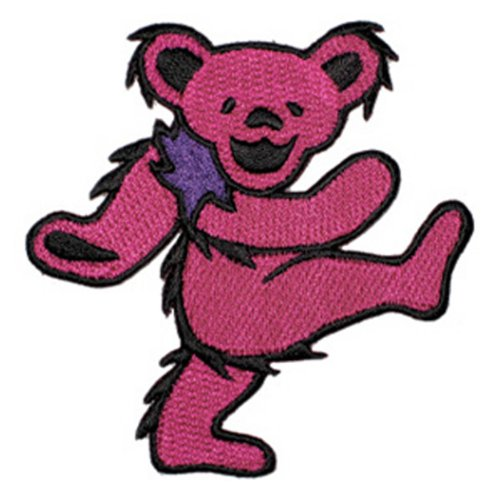 Application Dancing Bear Pink Patch