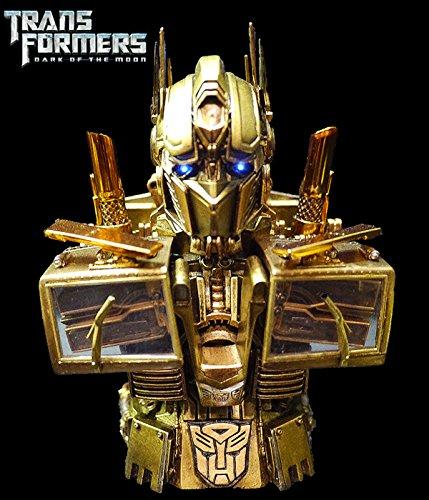 [日现] 变形金刚 月黑之时 擎天柱 プレミアム胸像 金色 限定50个